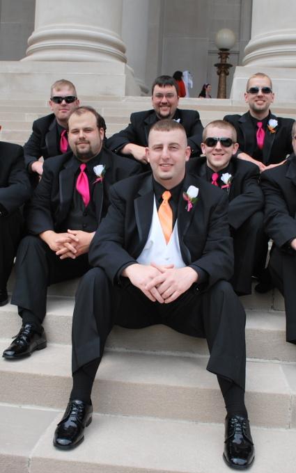 west virginia wedding photographers groomsmen