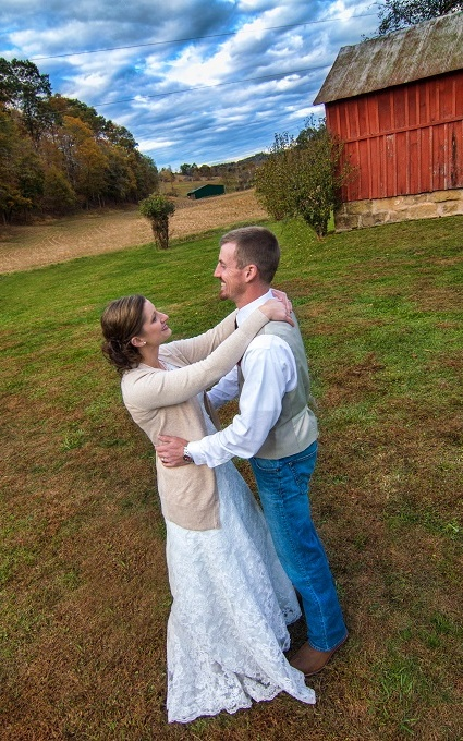 west virginia country wedding photography