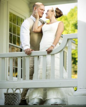 Beautiful picture taken in Charleston, WV wedding